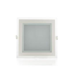 Foco Downlight  LED Cuadrado con Cristal 160X160Mm 12W 900Lm 30.000H