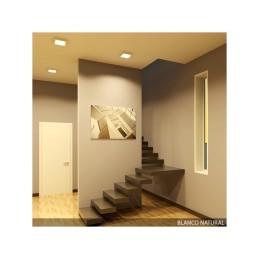 Plafón LED Cuadrado Superficie 225Mm 18W 932Lm 30.000H
