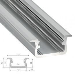 Perfíl Aluminio Tipo Y 2,02M