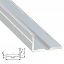 Perfíl Aluminio Tipo H 2,02M