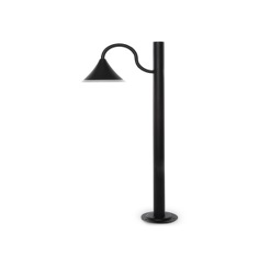 Lámpara Pie LED Exterior IP54  125x900mm 10W Gris Aluminio + PC [SL16-083B_G-WW]