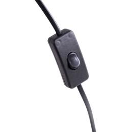 """Lámpara Colgante vintage \""""Demre - N-1199\"""" Negro 7xE27 Sin Bombilla [OPV-525NOR1557]"""